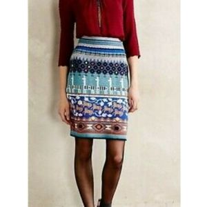 Anthropology  HWR wool patterned skirt.